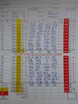 Amazing result - all 4 players ending with 29 points (Stableford).