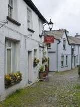 Hawkshead cobbled street