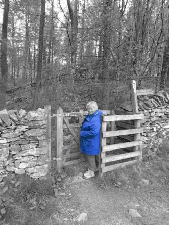Jude in customary gate pose