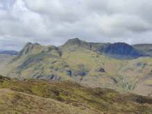 From left to right: Pike o'Stickle, Loft Crag, Thorn Crag, Harrison Stickle and Pavey Ark