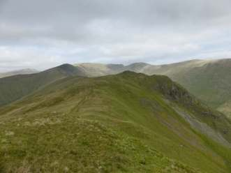 Looking back along the ridge