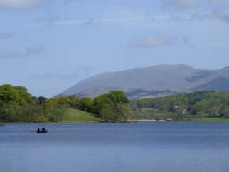 Rowing boat on Esthwaite Water