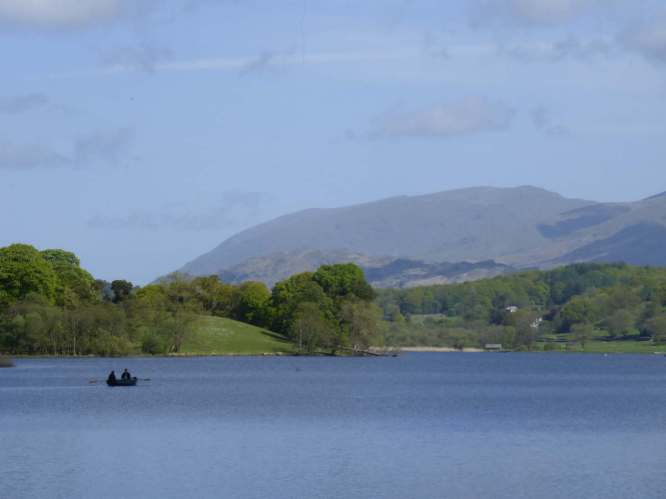 Rowing boat on Esthwaite Water