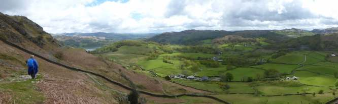 View back to Elterwater and Little Langdale