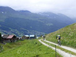 These riders would soon be on the other side of the valley - above the tree line at nearly 2500m !