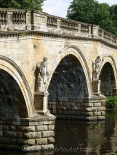 Bridge over the river Derwent at Chatsworth