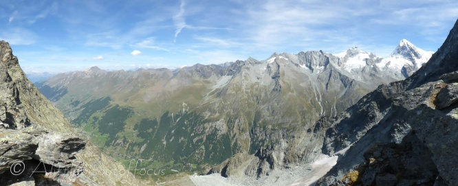 Ferpècle valley from the Col