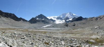 Glacier and Mont Blanc de Cheilon