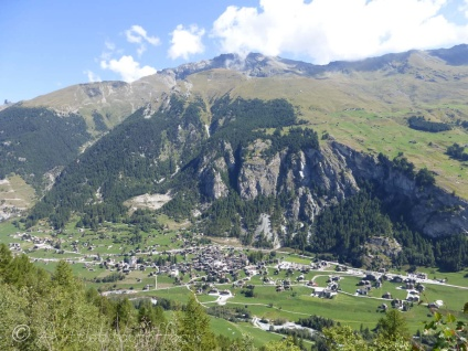 View over Evolène