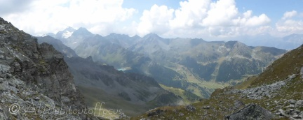 View SW, to Mont Fort and Lac de Cleuson