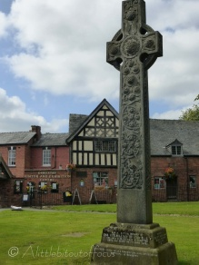 Celtic cross and visitor centre
