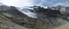 Ferpecle glacier panorama