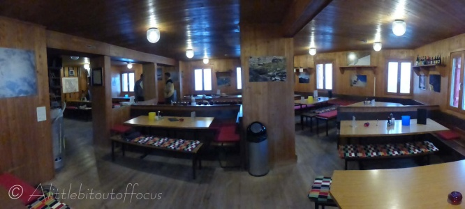 Inside the cabane