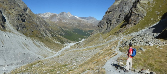 Looking down towards Arolla