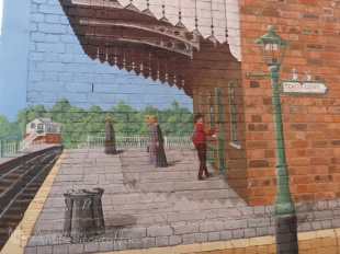 All the mural pictures were taken in Oswestry.