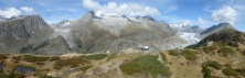 With the Aletsch glacier behind