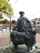 This sculpture is by Ivor Robert-Jones and stands in a square in Oswestry.