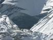 Glacier hole close up
