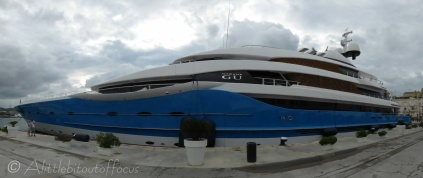This was perhaps the most impressive boat in the port. Built in 2013, it was 99 metres long.