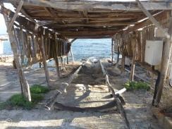 Wooden slipway