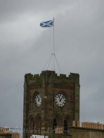 Church flying the Scottish flag