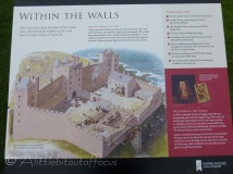 Tantallon Castle information board