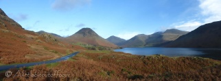 From left to right you can see Yewbarrow, Great Gable, Lingmell and Scafell Pike (England's highest mountain @978m)