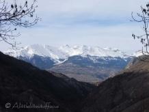 Distant Rhone valley peaks