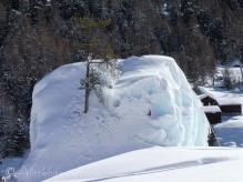 Ice climbing rock