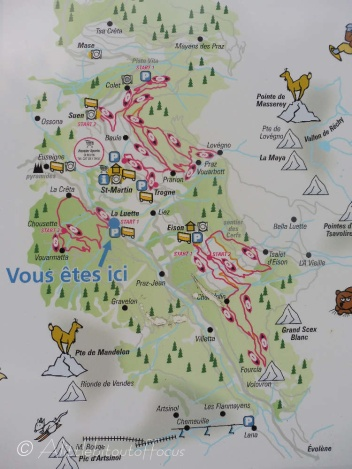 Snowshoe map
