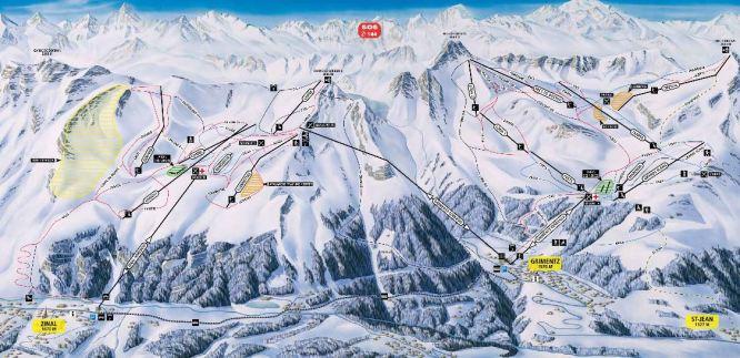 Grimentz-Zinal ski piste map