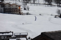 With my apologies for the quality of this picture but it was taken from our chalet with the zoom on my compact camera,