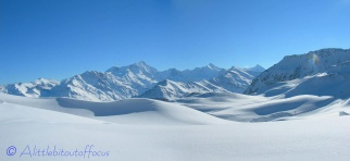 Panoramic snow scene