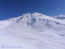 Ski run below Mont Gautier