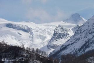 Ferpècle glacier and the Dent d'Hérens