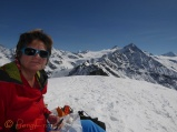Lunch on the top of Sassenaire (3253m)