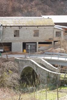 Old bridge at Praz Jean