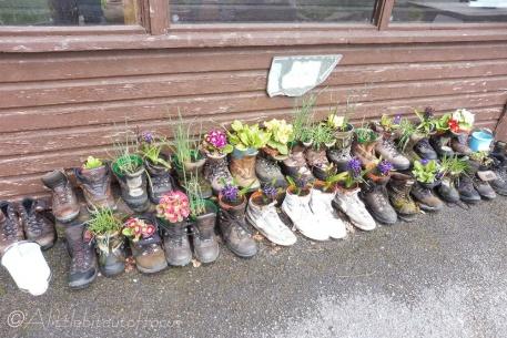 1 'Boot Camp' outside Rosthwaite Youth hostel