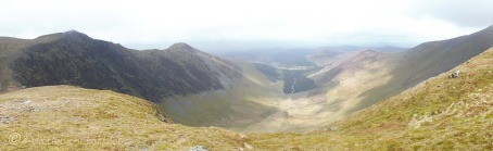 10 Hopegill Head & Ladyside Pike (L) over Swinside plantation