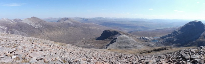 10. View south, and the route taken, from the top