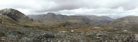 11 Great End (L) and Great Gable (L of centre)
