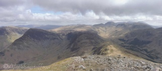 13 Looking back along the ridge to Haystacks - Ennerdale (R)