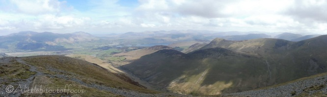14 Panoramic view NE to Derwent Water from Grisedale Pike