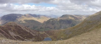 16 View NW from High Stile with Bleaberry Tarn below