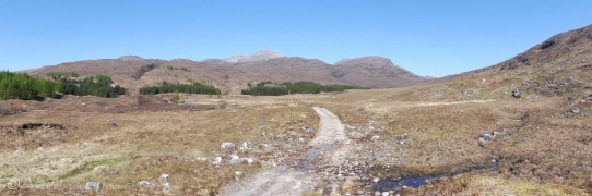 2. The track with Maol Chean-dearg (top centre)