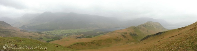 3 Buttermere and Crummock Water with Rannerdale Knotts (R) in front