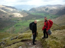 6 Colin and Mike above Rosthwaite