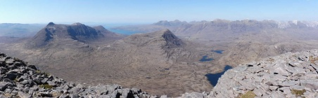 7. View north from the top (Beinn Damh, L)