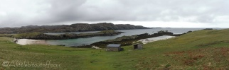 1 Our landing beach and Ranger hut on Handa