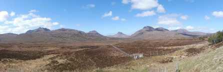 2 Ben Mor Coigach (L), Beinn an Eoin, Stac Pollaidh (C), Cul Beag (R)